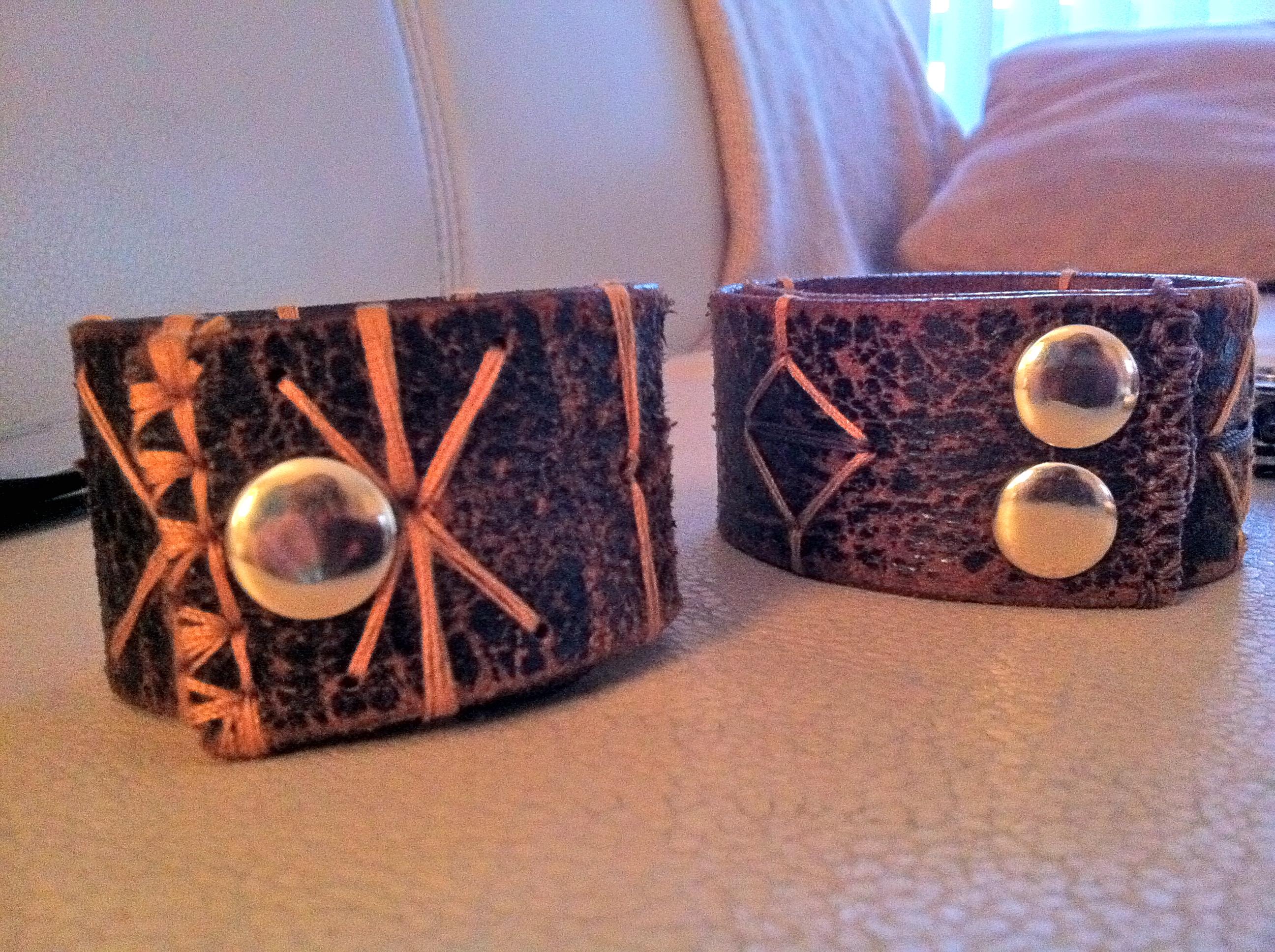 use of that leather belt diy leather bracelet